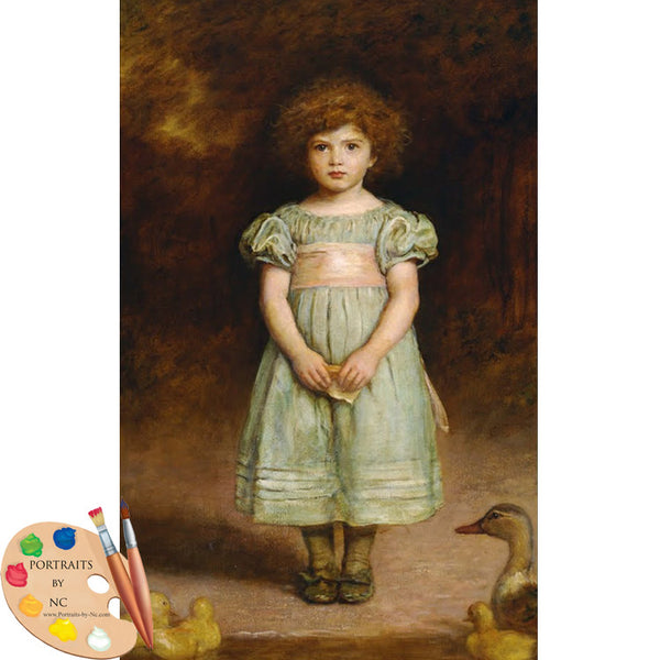 Ducklings by John Everett Millais
