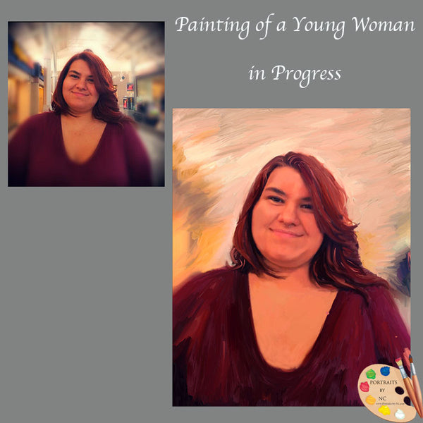 young woman painting 602