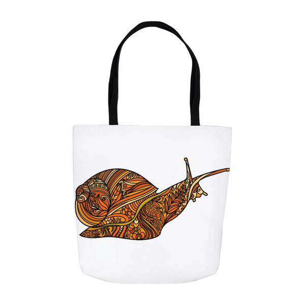 Teacher Gifts Orange Snail Science Tote Bags Small Front
