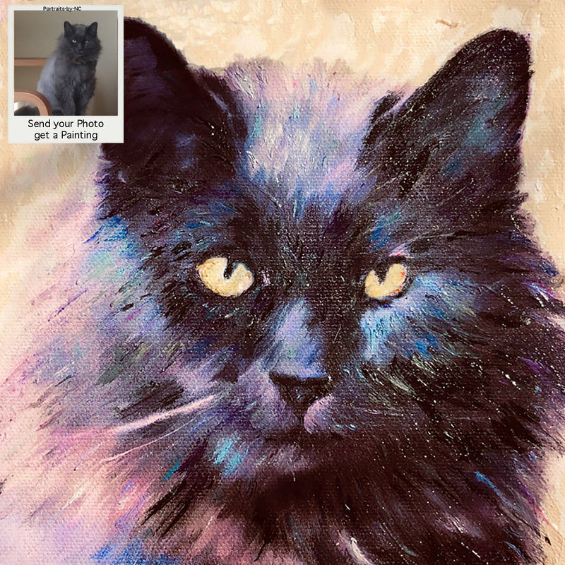 Custom Painted Cat Portrait