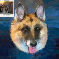 German Shepherd Portrait from Photo