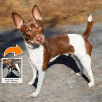 Rat Terrier Dog Portrait from Photo