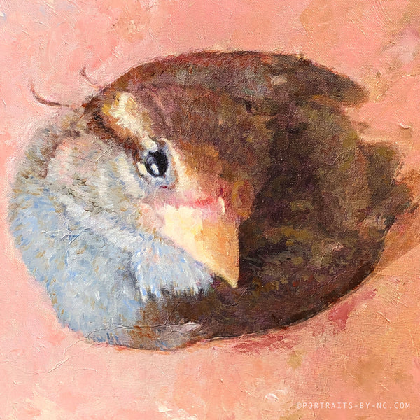 Sparrow Oil Painting