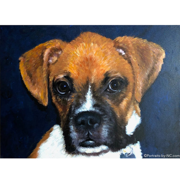 Boxer Puppy Painting