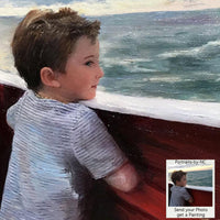 Boy at Sea Oil Portrait