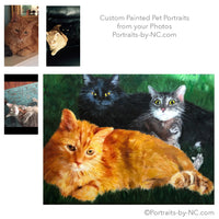 Cats Group Portrait in Oil 684 - Portraits by NC