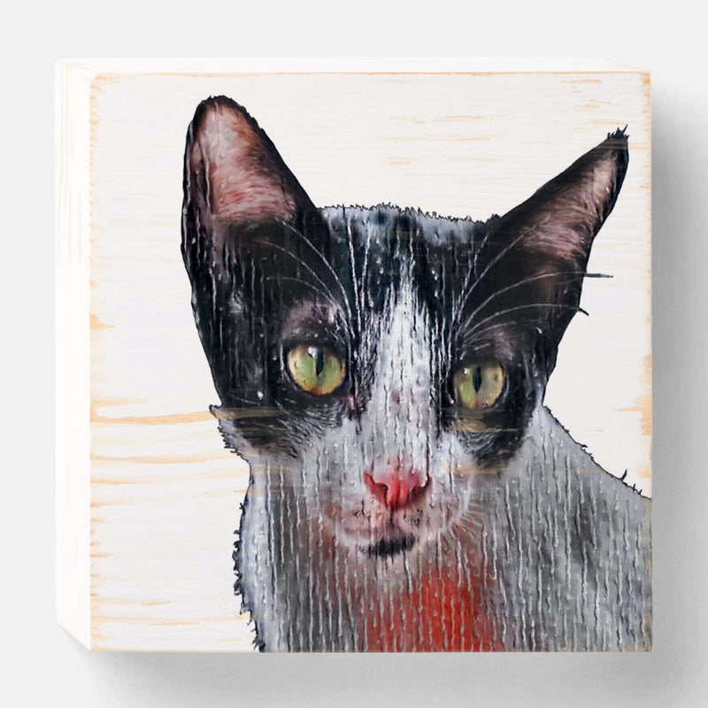 Custom Cat Portait on 6x6 in Wood Block