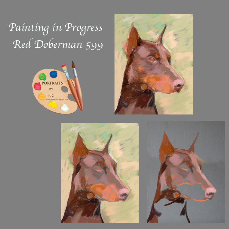 Doberman Painting Progress