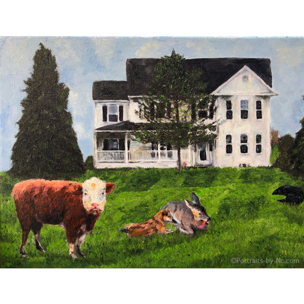 farm animals painting