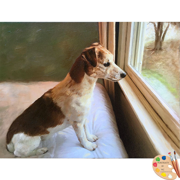 Jack Russell Dog Painting 461