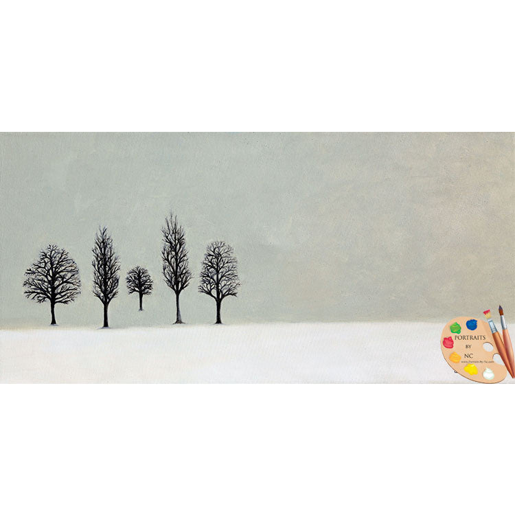 Winter Trees Landscape Painting