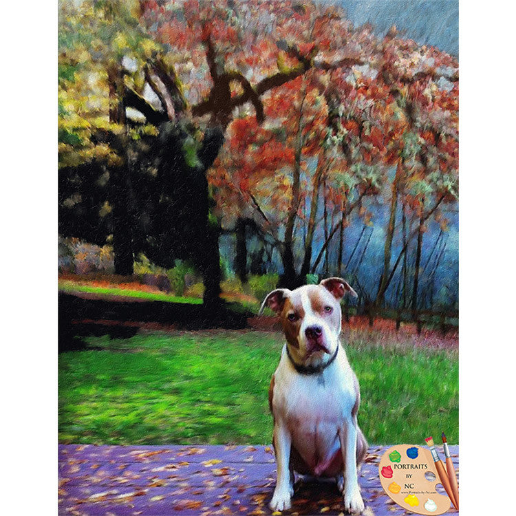 Pit Bull Dog Painting 348