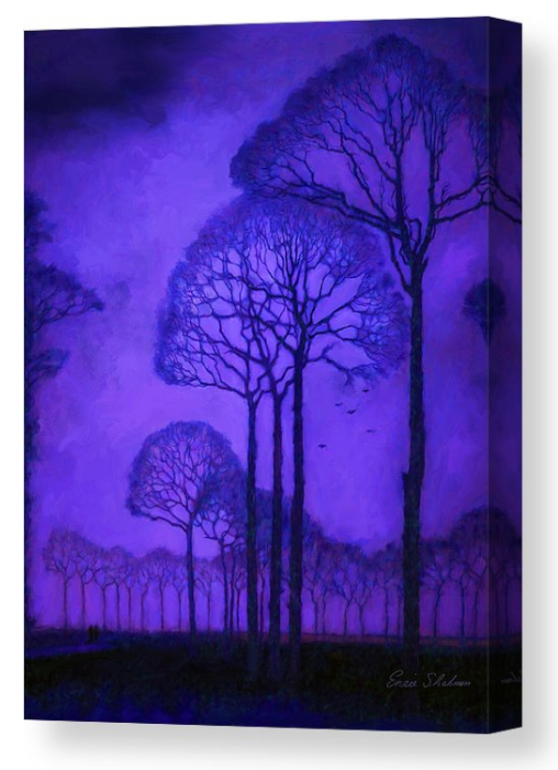 Twilight Walk in the Park - Botanical - Canvas Print 270