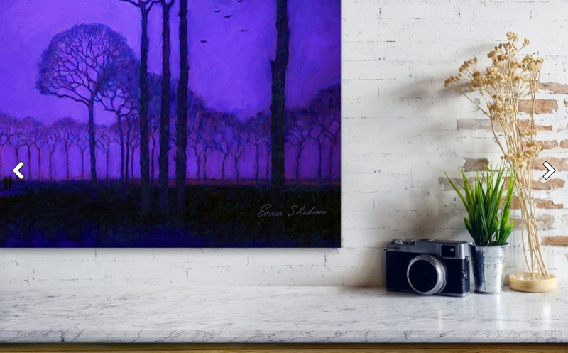 Purple Trees - Metal Print Small