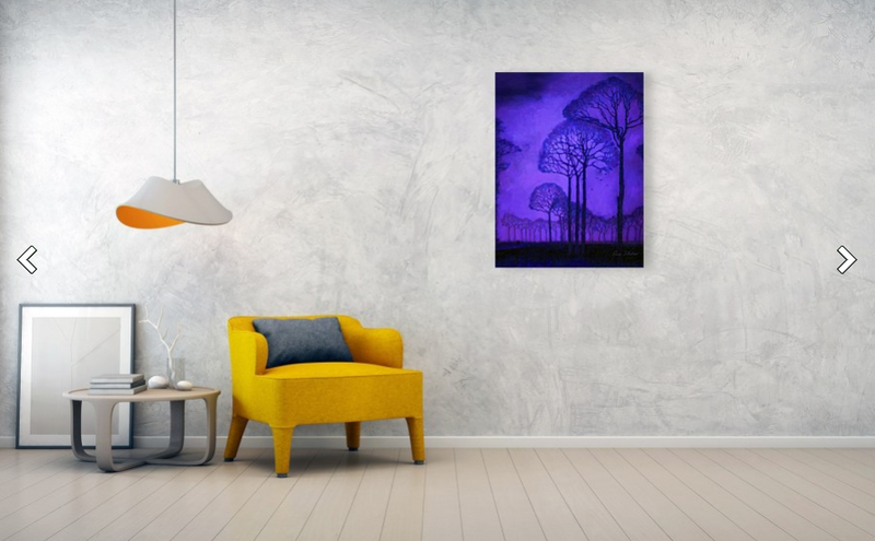 Purple Trees - Metal Print wall print