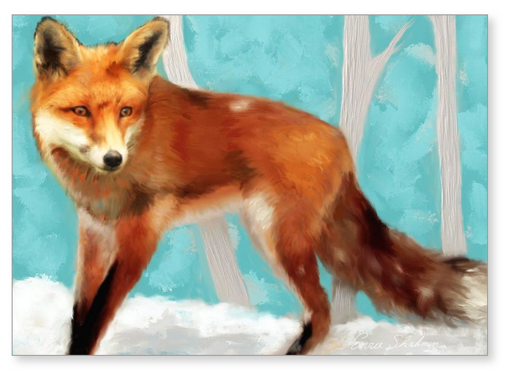 Red Fox - Greeting Card 222