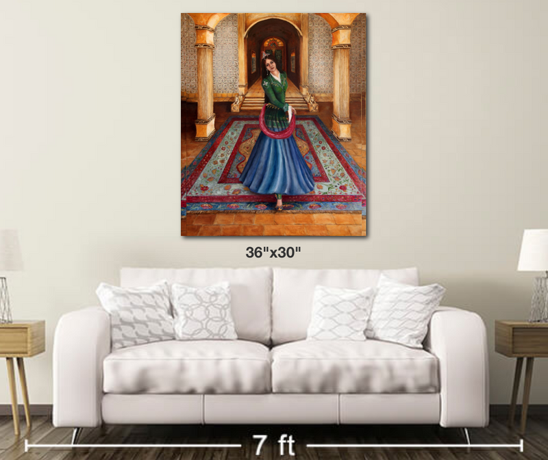 Court Dancer - Metal Print Large
