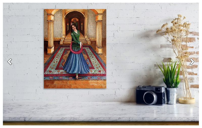 Court Dancer - Metal Print Small