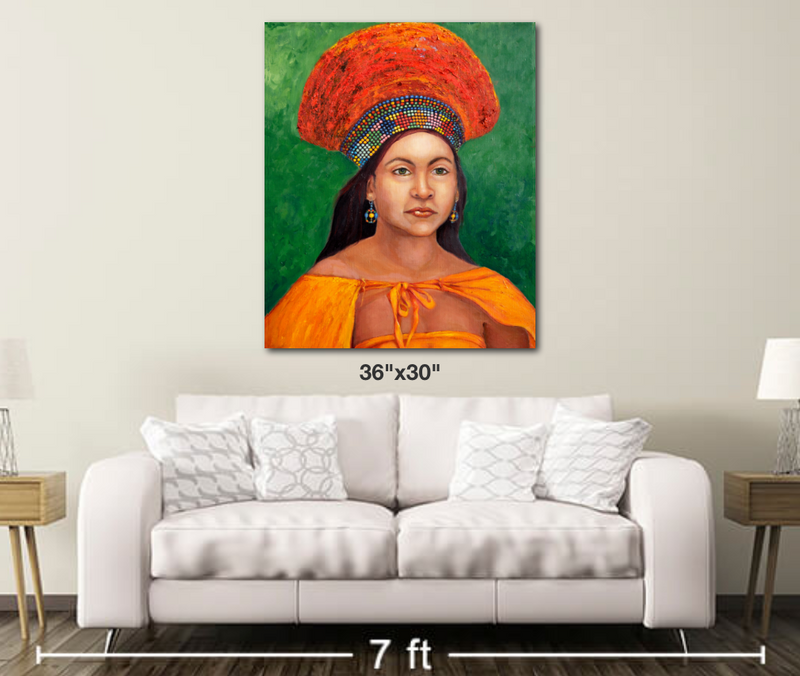 Zulu Bride - Metal Print Large