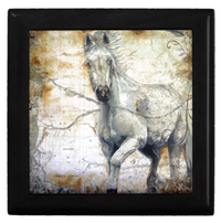 Keepsake Box - Horse Tile Top