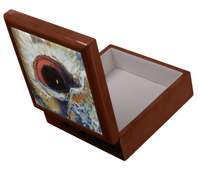 Keepsake/Jewelry Box - Owl Eye - Golden Oak Box Felt Lined