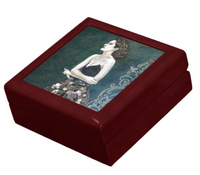 Keepsake Box - the Novelist - Mahogany - Tile Lid