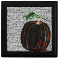 Keepsake Box - Pumpkin - Black Box