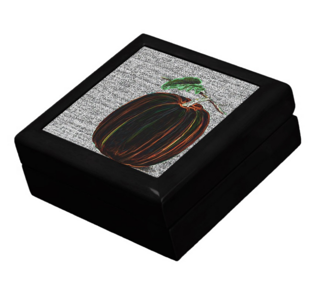 Keepsake Box - Pumpkin - Black Lacquer Box