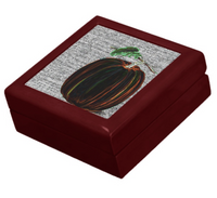 Keepsake Box - Pumpkin -Mahogany Lacquer Box