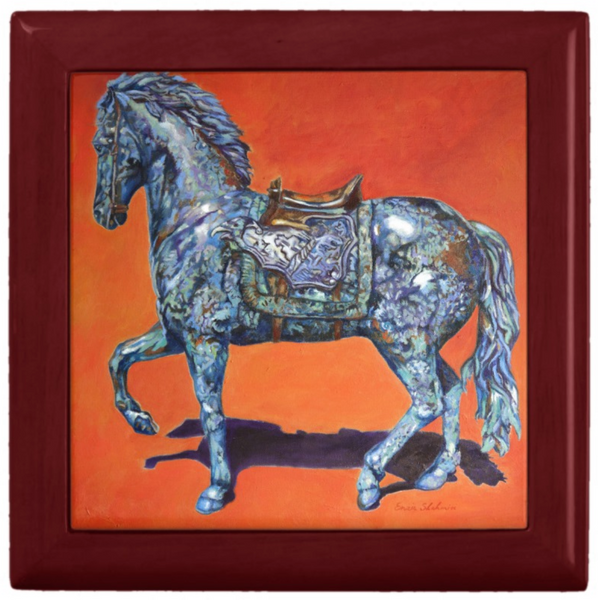 Jewelry Box with Horse