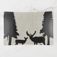 Trinket Tray - Country Style - Deer in Forest - Rectangle Medium