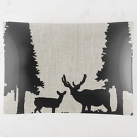Trinket Tray - Country Style - Deer in Forest - Rectangle Large