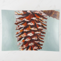 Trinket Tray - Holiday Design - Pine Cone - Rectangle