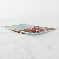 Trinket Tray - Holiday Design - Pine Cone - Rectangle - Side View