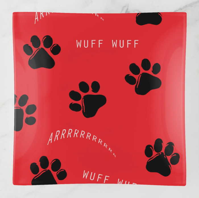 Trinket Tray - Paw Prints - Gifts for Dog Lovers - Square