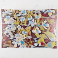 Trinket Tray - Floral Design - Abstract Cherry Blossoms - Rectangle