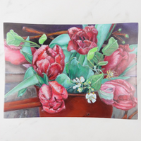 Trinket Tray - Red Tulips - Rectangle