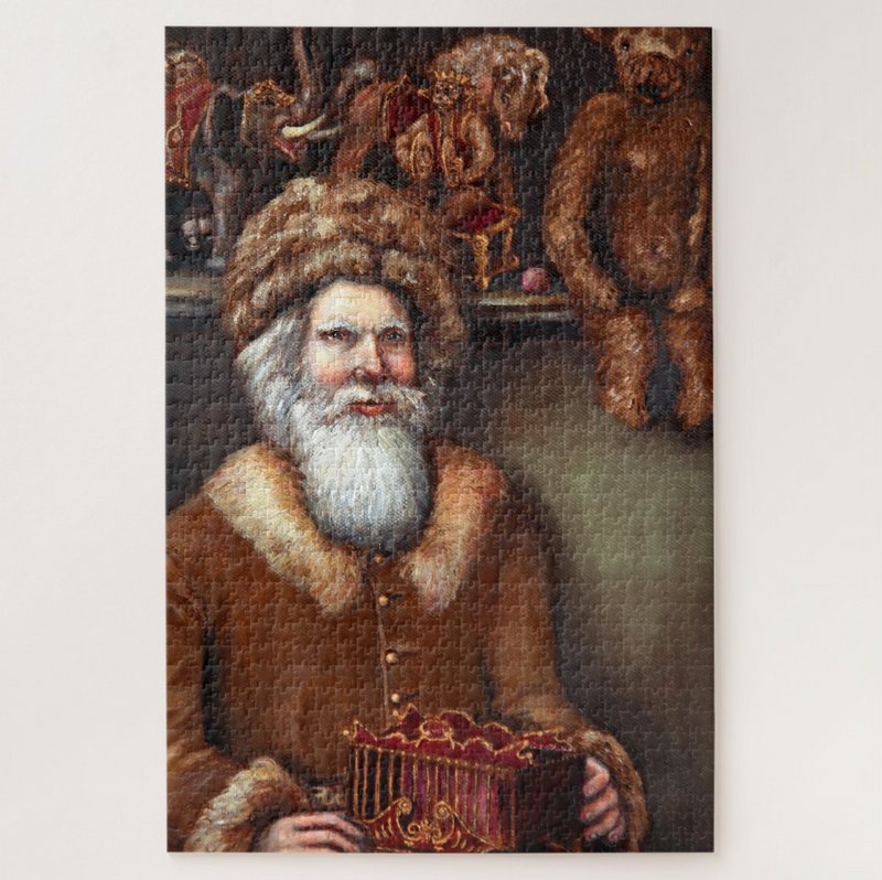 Christmas Jigsaw Puzzle - Victorian Santa in his Toy Shop - Portraits by NC