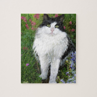 Cat in the Garden Jigsaw Puzzle - Portraits by NC