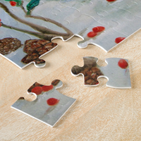 Christmas Jigsaw Puzzle - Rabbits Sitting in Snow - Portraits by NC