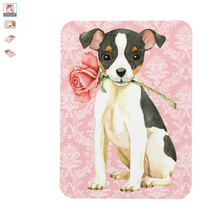 Valentine Rose Magnet - Fox Terrier Small