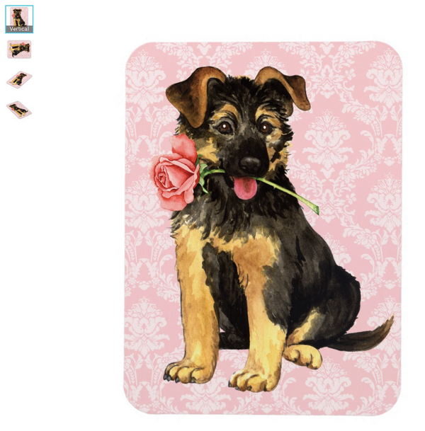 German Shepherd Puppy Valentine Magnet