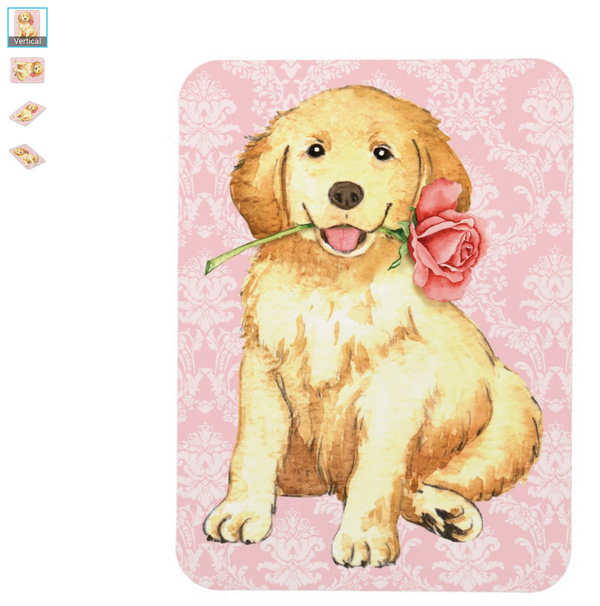 Golden Retriever Puppy Valentine Magnet