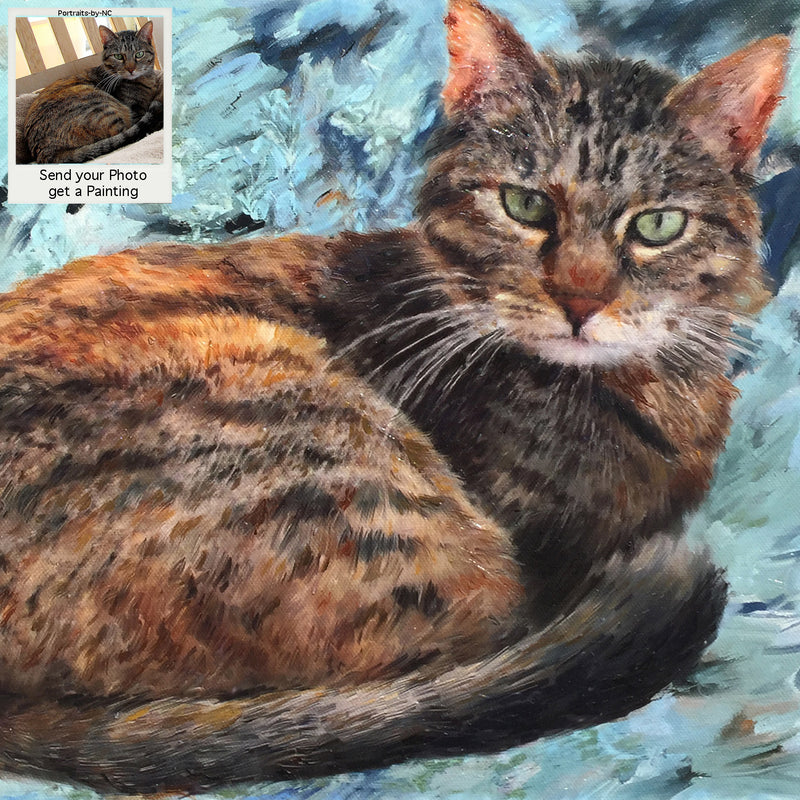 Tabby Cat Oil Portrait 11x14 inch