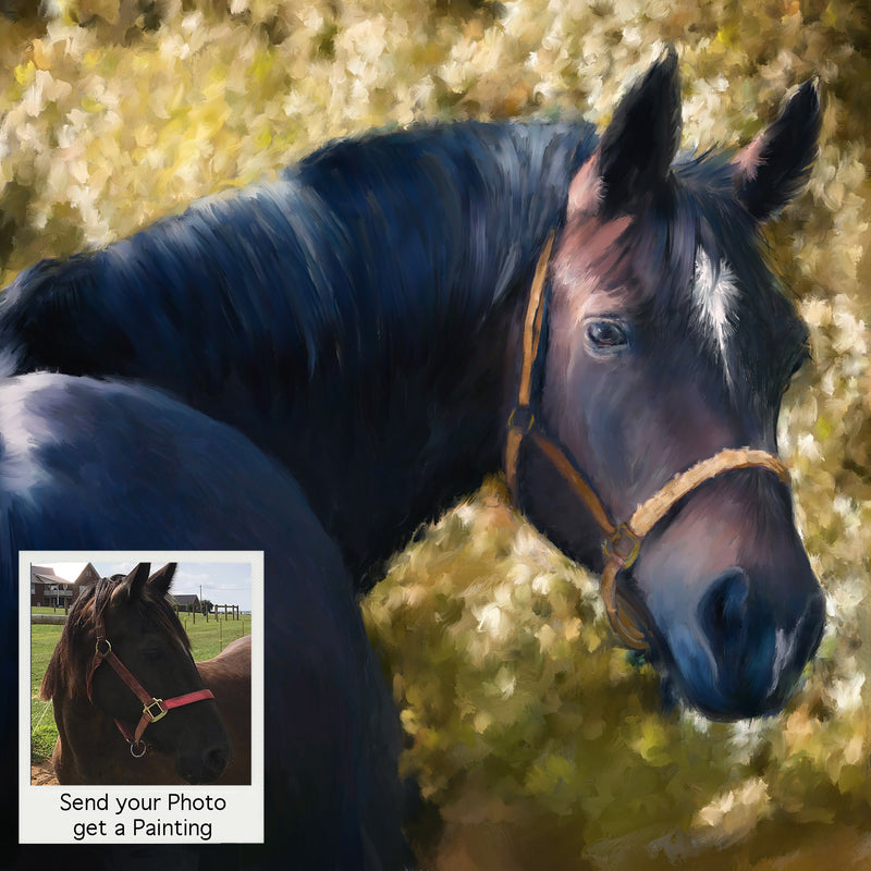 Tennessee Walker Horse Portrait from Photo