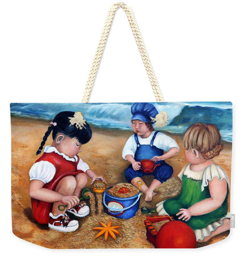 A Day At The Beach  - Weekender Tote Bag - Portraits by NC