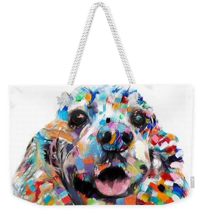 Abstract Cocker Spaniel - Weekender Tote Bag - Portraits by NC