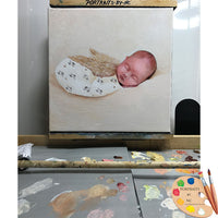 baby on easel