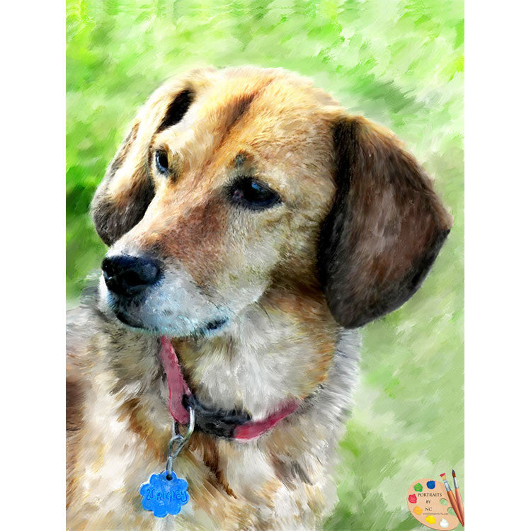 Beagle Dog Painting