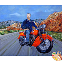 Motorcycle Rider Portrait